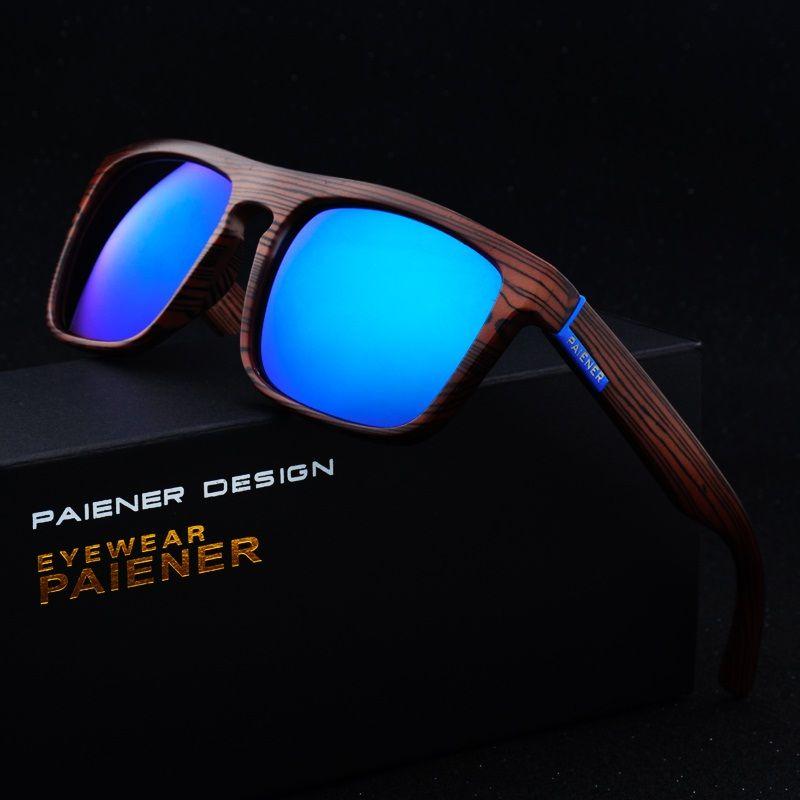 Rétro Imitation bambou bois lunettes de soleil hommes femmes marque Designer Sport lunettes or miroir lunettes de soleil nuances lunette oculo