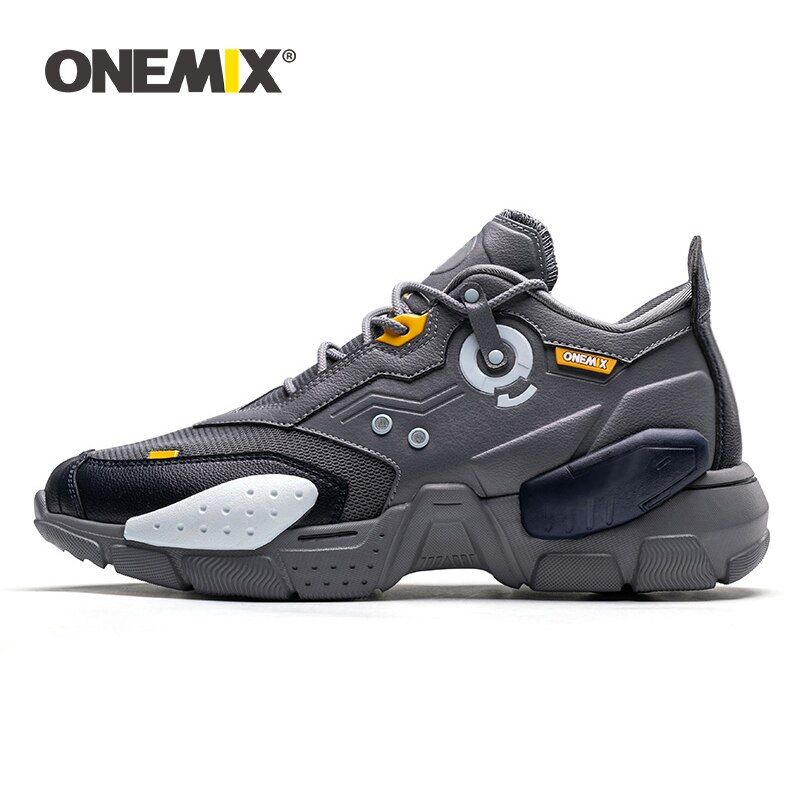 ONEMIX 2019 Neue Männer Laufschuhe Technologie Stil Komfortable Dämpfung Mode Unisex Sport Tennis Dad Schuh Männer Jogging Turnschuhe