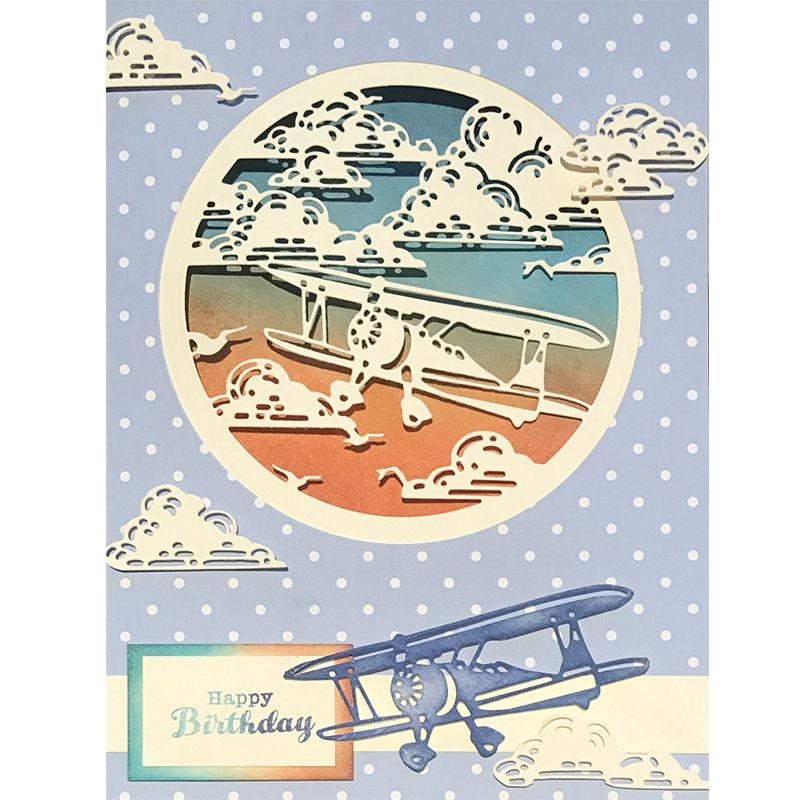 Circle Cloud Airplane Metal Cutting Dies For DIY Scrapbooking Photo Album Paper Cards Decorative Crafts Embossing Die Cuts 2018