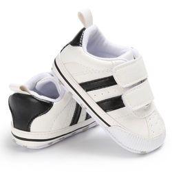 Infantile En Bas Âge Semelle Souple Crochet Boucle Prewalker Sneakers Bébé Garçon Fille Lit Chaussures Nouveau-Né à 18 Mois