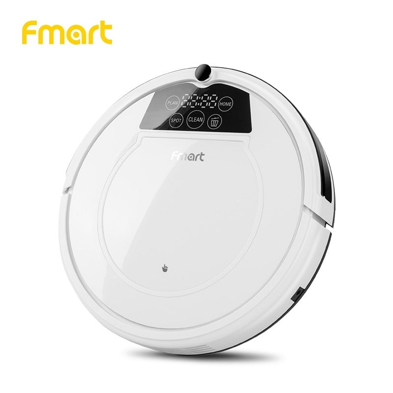 Fmart E-550W(S) Robot Vacuum Cleaner Home Cleaning Appliances 3 in 1 Suction+Sweeper +Mop Led Display Vacuum Cleaner