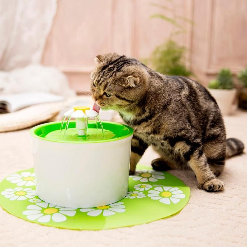 Automatic Pet Drinking Bowls Mute Cat Dog Water Dispenser Feeder Bottle with Charcoal Filter&Anti-slip Mat Pets Supplies