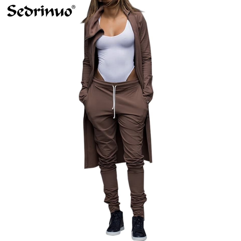 casual tracksuit two piece set top and pants women runway spring autumn long sleeve top and pants suits Women clubwear outfits