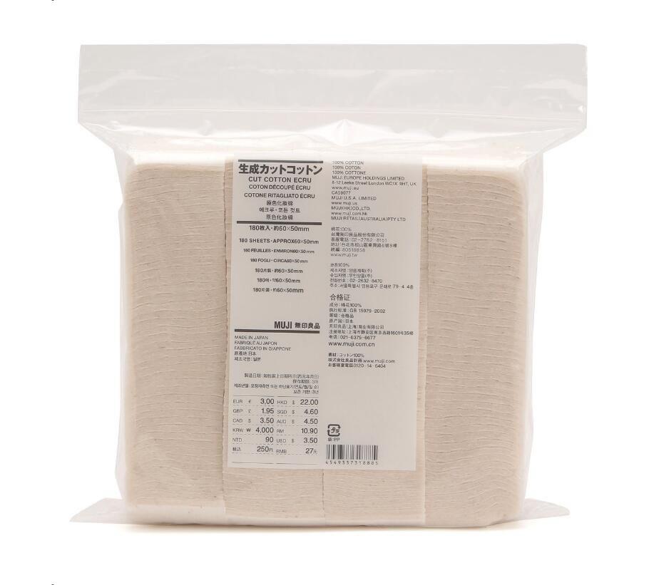 100% Original Japanese Organic Cotton MUJI 180Pcs Huge Vapor Eletronic Cigarettes Vape Cotton For RDA RBA DIY Atomizer Coil Wick