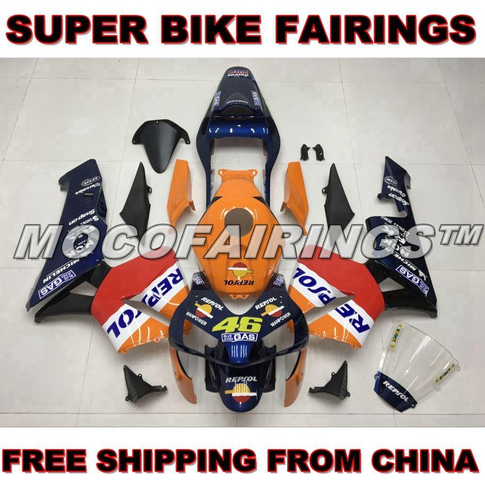 Motorcycle ABS Fairing Kit For Honda CBR600RR 2003 2004 Repsol Bodywork DARK BLUE