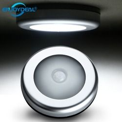 6 LED PIR Motion Sensor Activated Night Light Closet Corridor Cabinet Induction Lamp Magnetic Wall Light use 3x AAA batteries