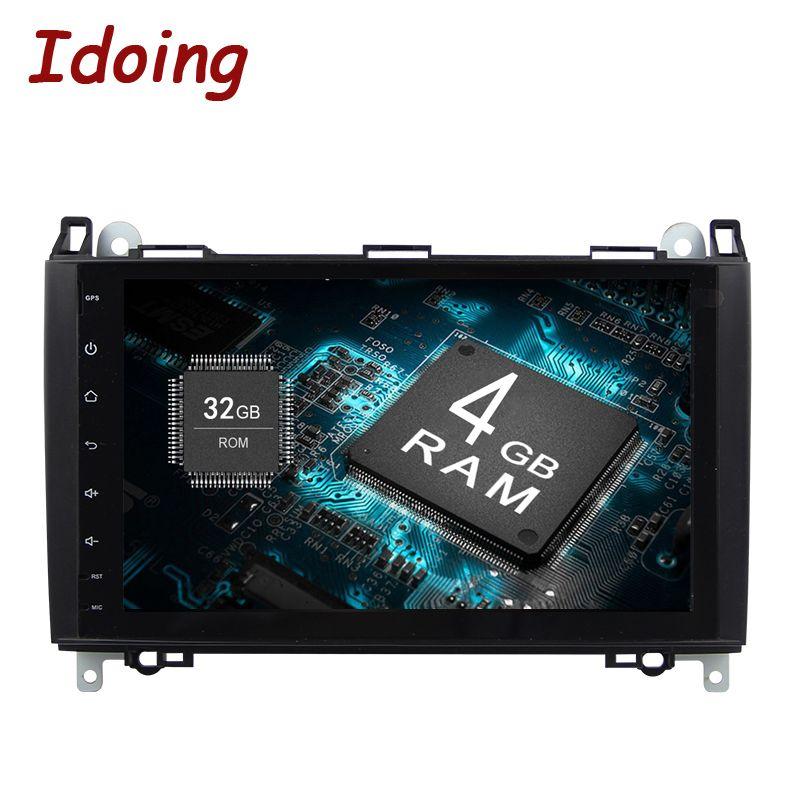 Idoing Android8.0 4g + 32g 8 Core 2Din Lenkung-Rad Für Mercedes EINE Klasse & B Clas auto Multimedia-Spieler Schnelle Boot TV 1080 p HDP