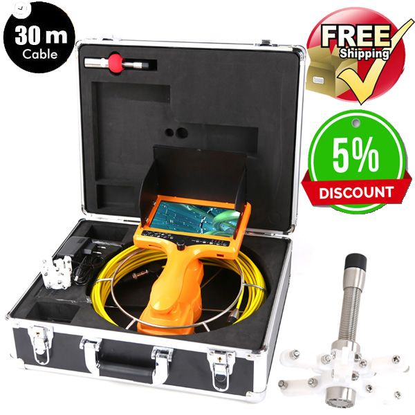 30M Drain Endoscope Pipe Inspection Camera Pipe Sewer Camera Waterproof Pipe Plumbing Camera 12Pcs White Lights Nightvision