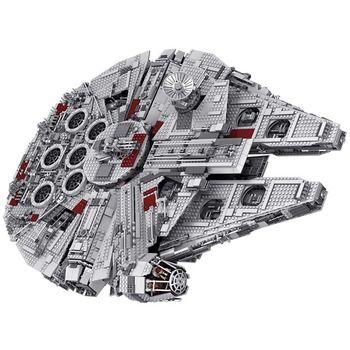Technique Star Wars Série Ensemble Grand Millennium Falcon Blocs Compatible LegoINGLYS Clone Grand Ultimate Collector Jouets 5382 PCS
