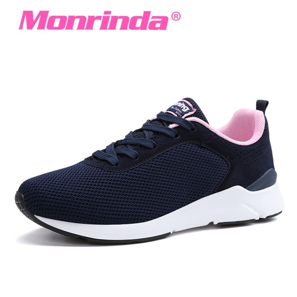 Monrinda New Sports Women Sneakers Breathable Outdoor Walking Shoes Lightweight Female Blue Jogging shoe Zapatos Mujer Deportivo