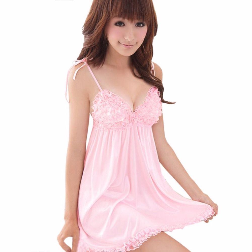 Сексуальное белье Розовый Кружево Платье + G Строка Free Размеры Sexy пижамы Нижнее Бельё для девочек Униформа Кимоно Костюм пижамы 10