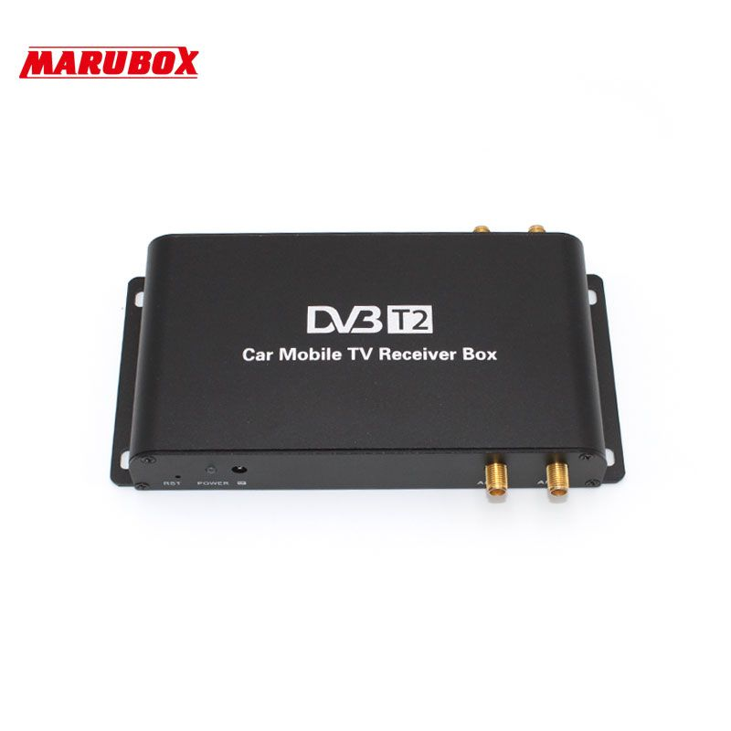 MARUBOX M9004 High Speed Car DVB-T2 4 Antenna 4 Mobility Chip DVB T2 Digital Car TV Tuner And USB HD 1080P TV Receiver BOX DVBT2