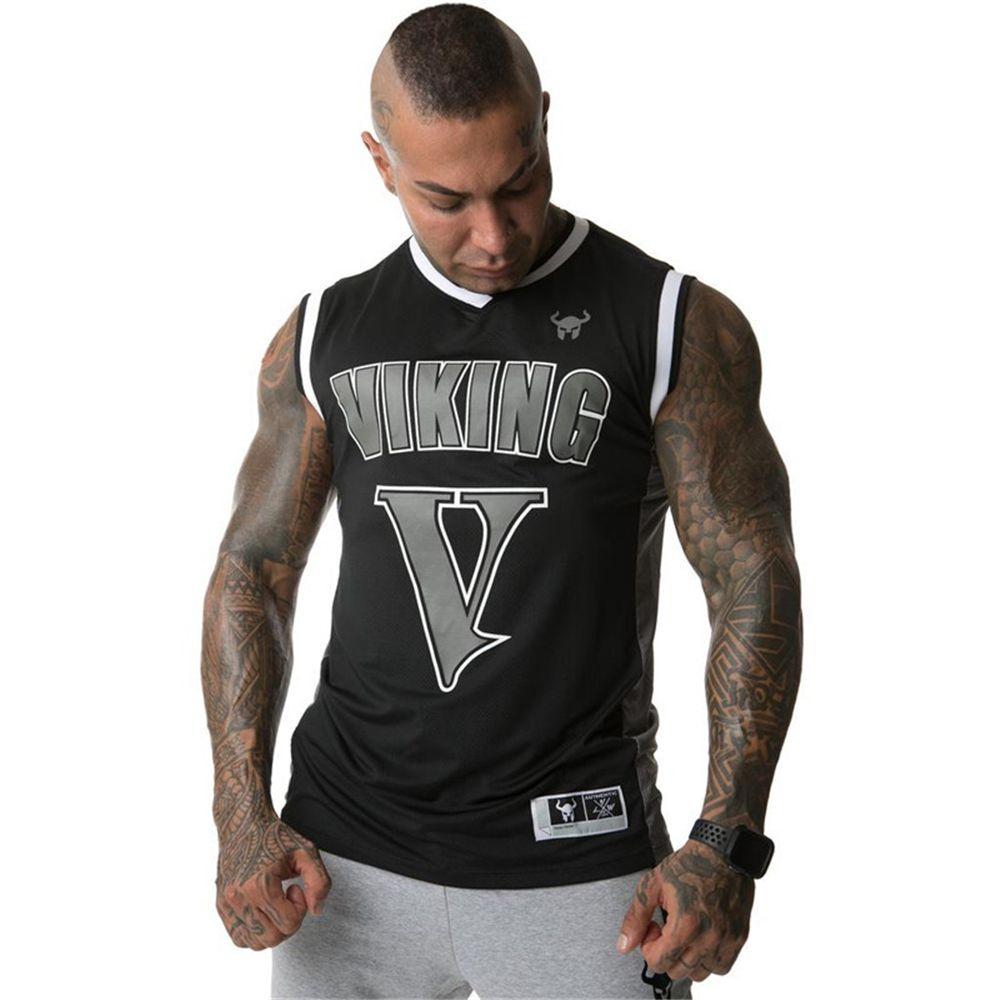2019 été maille vêtements hommes réservoir hauts Stringer musculation Fitness absorber la sueur respirer librement hommes réservoirs vêtements Singlets