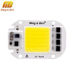 Светодиодный COB лампы Чип 20 Вт 30 Вт 50 Вт AC 110 V 220 V умная ИС (интеграционная схема светодиодный бусины DIY для Светодиодный прожектор, точечный с...