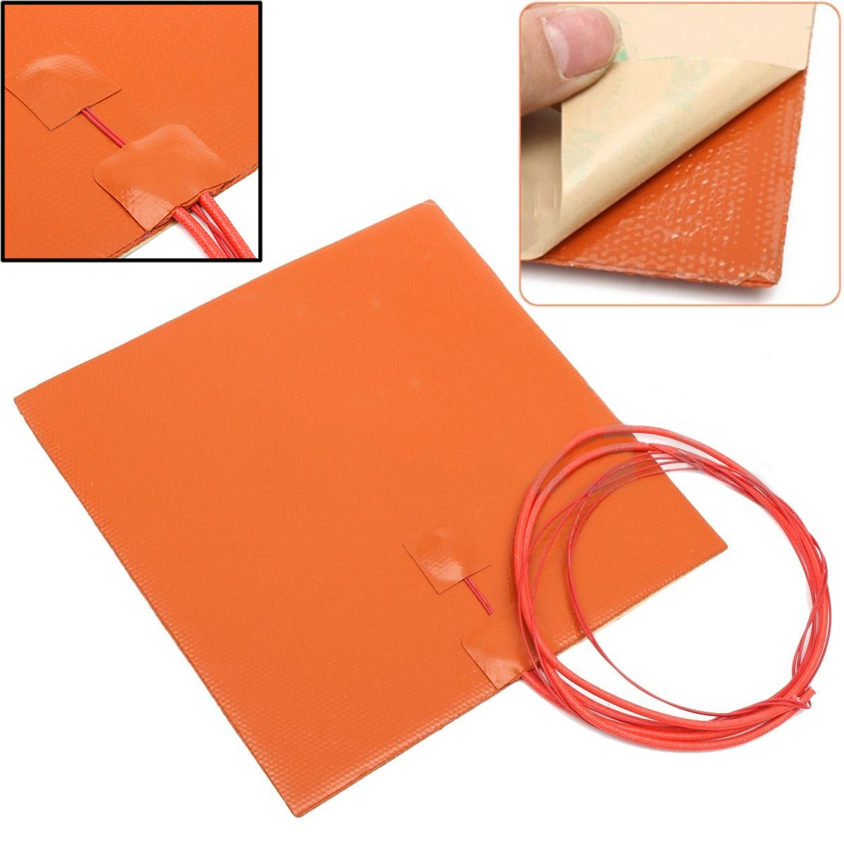 Silicone Heating Pad 200W 12V 200*200mm Mayitr Thermal Conversion Repair Tools For 3D Laser Printer Heated Bed Heating Mat