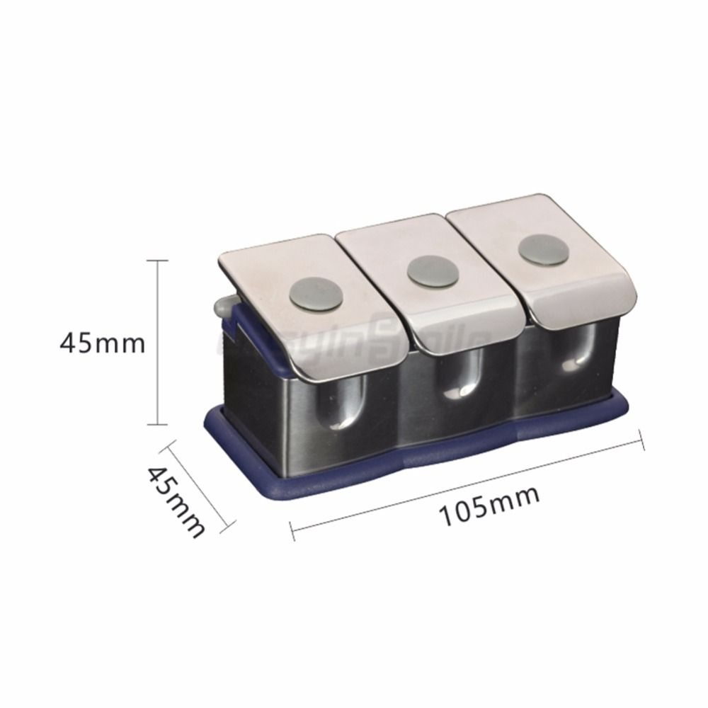 1pc Easyinsmile Dental material Organizer Stainless Steel Medicine Bottle Set for 3 Medicine Bottle