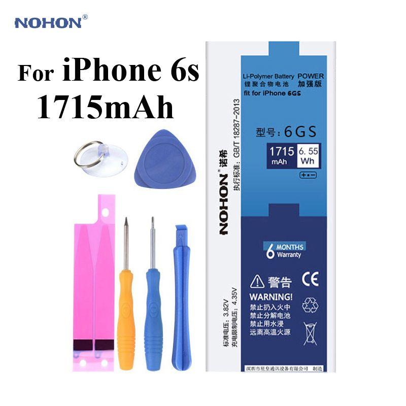 100% D'origine NOHON Téléphone Batterie pour Apple iPhone 6 s 6gs 4.7 pouce 3.82 V 1715 mAh Li-polymère batterie Avec Livraison Machine Outils