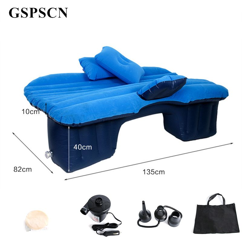 GSPSCN Top Selling Car Back Seat Cover Car Air Mattress Travel Bed Inflatable Mattress Air Bed Good Quality Inflatable Car Bed