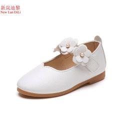 2018 flor moda niñas zapatos nueva marca plana con zapatos de bebé de cuero elegante de alta calidad niños zapatos niños