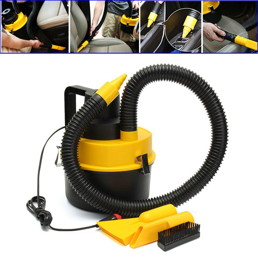 Portable 12V Wet Dry Vac Vacuum Cleaner Inflator Turbo Hand Held Fits For Car Or Shop DXY88