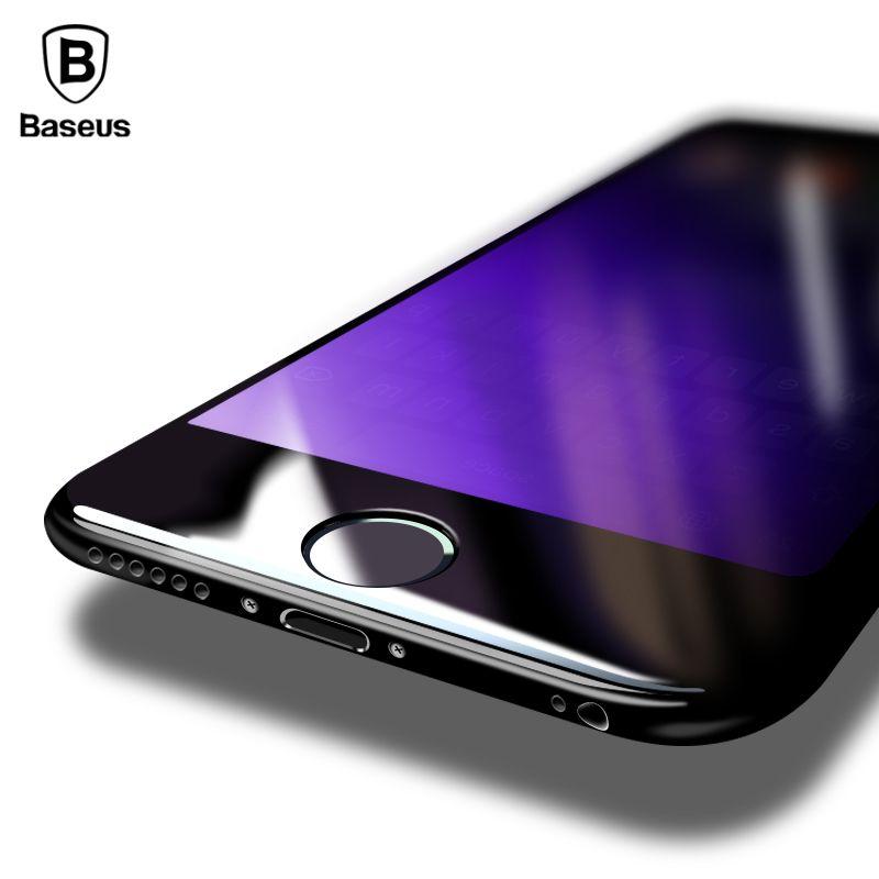 Baseus 0.2 MM 9 H 3D En Verre Trempé Film Pour iPhone 8 7 Plus 8 plus 7 plus Pleine Couverture Écran Protection Anti-Bleu Clair protecteur