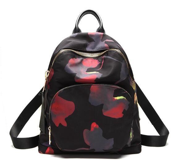 Amasie new arrvial backpack black vintage women bag double should bag pack causal bag nylon leather bag 3 size EGT0346