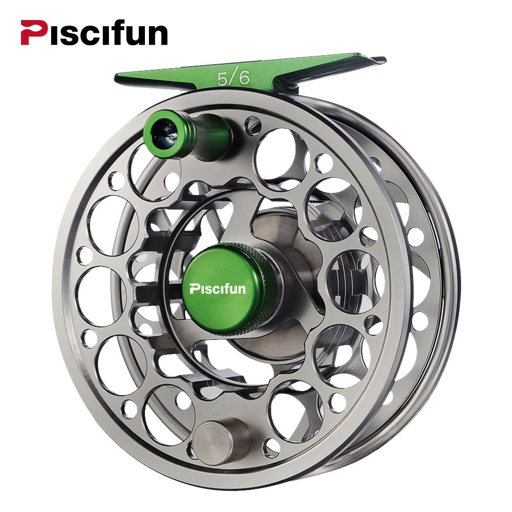 Piscifun Sword Fly <font><b>Reel</b></font> with CNC-machined Aluminium Material 3/4/5/6/7/8/9/10 WT Right Left Handed Fly Fishing <font><b>Reel</b></font> Gunmetal