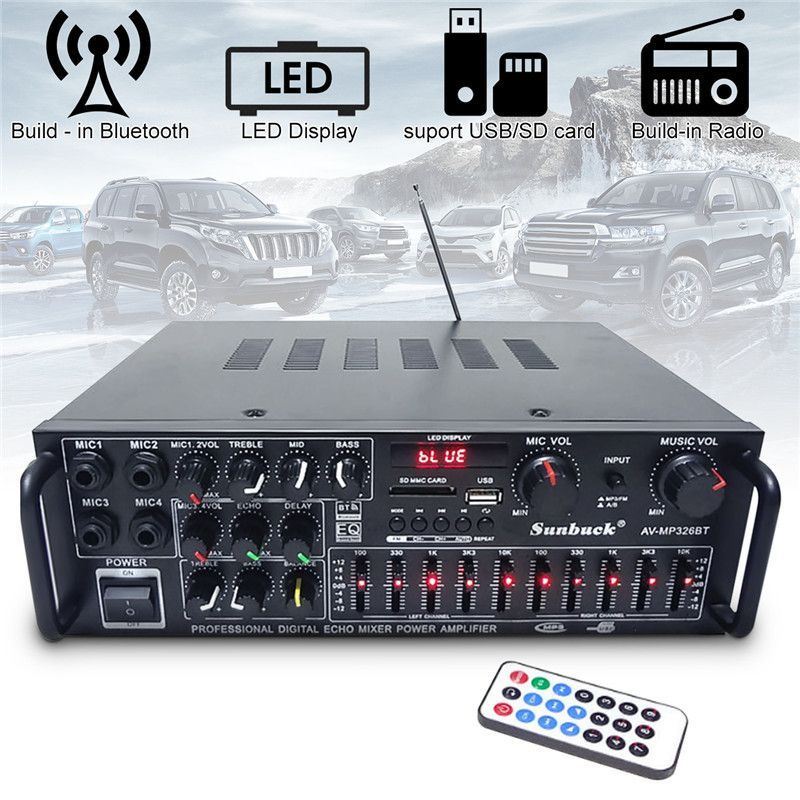 800 watt 110 v 220 v 2 Kanal Equalizer Bluetooth Home Stereo Power Verstärker USB Auto Verstärker Heimkino Verstärker audio
