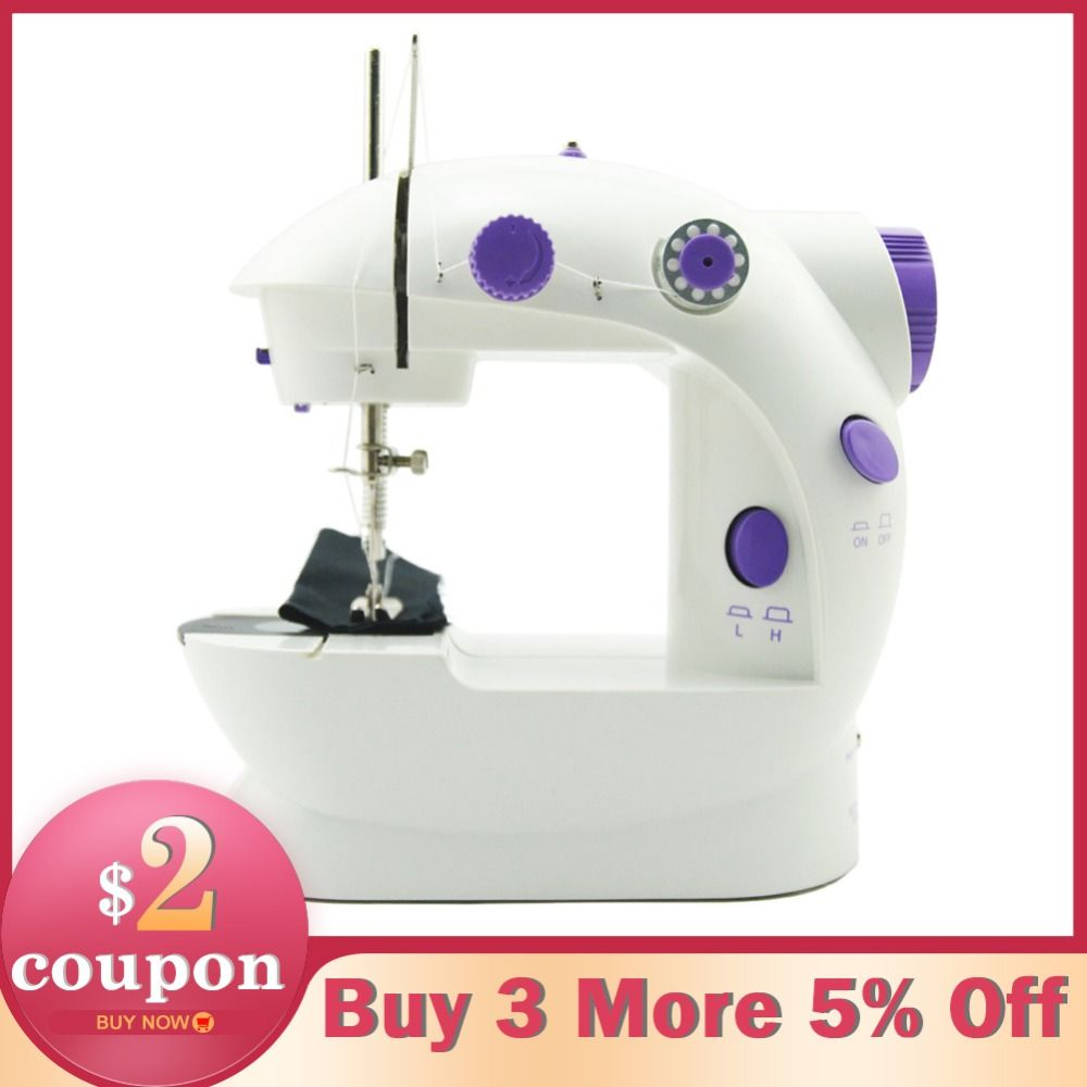 Electric Mini Sewing Machine For Home Hand Machine To Sew 220V Speed Adjustment with Light Handheld Sewing Machine
