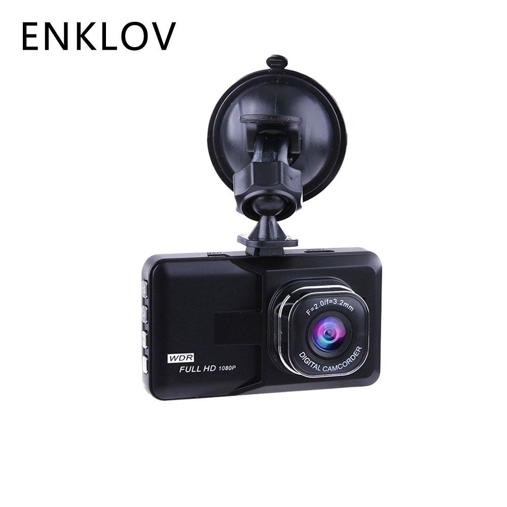 ENKLOV Car dvr/Dash Camera Driving Video Recorder 1080P Car Camera Wide Angle Driving Recorder HD Dash Cam LCD Night Vision DVR