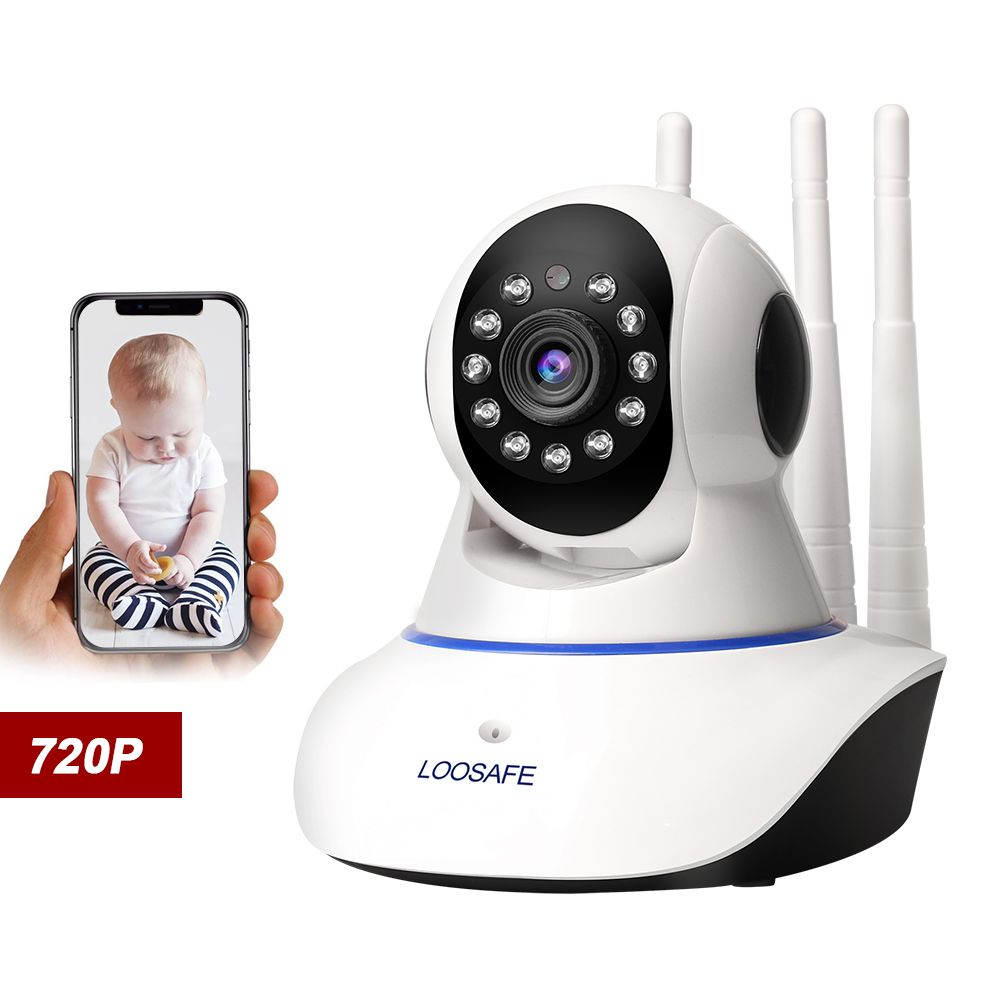 Caméra IP de sécurité à domicile LOOSAFE suivi automatique PTZ nuage Wifi caméra IP IRCut nuit enregistrement Audio IR P2P HD Surveillance CCTV