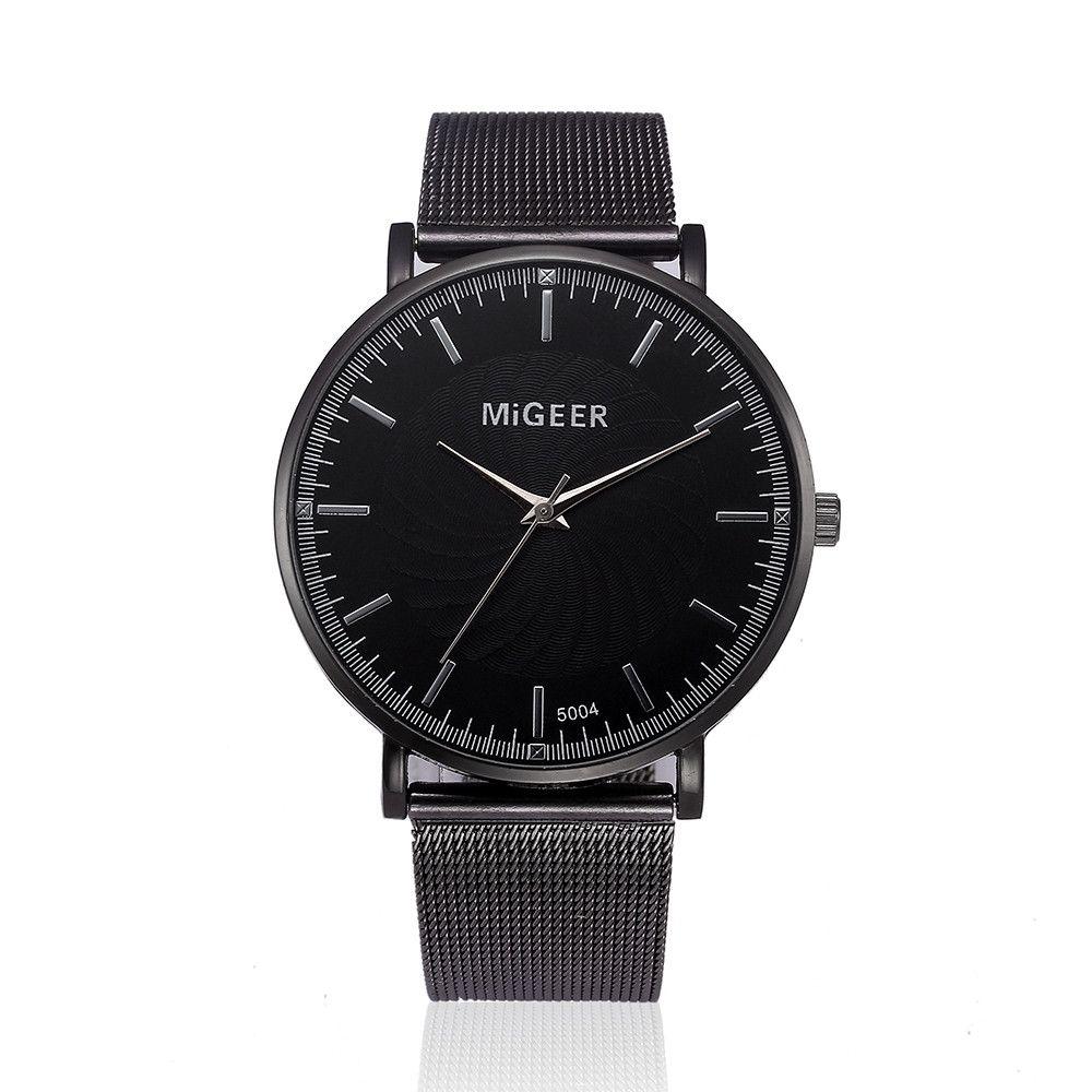 MIGEER Watch 2017 Fashion Luxury Watch Women Crystal Stainless Steel Analog Quartz Wrist Watch Bracelet montre femme