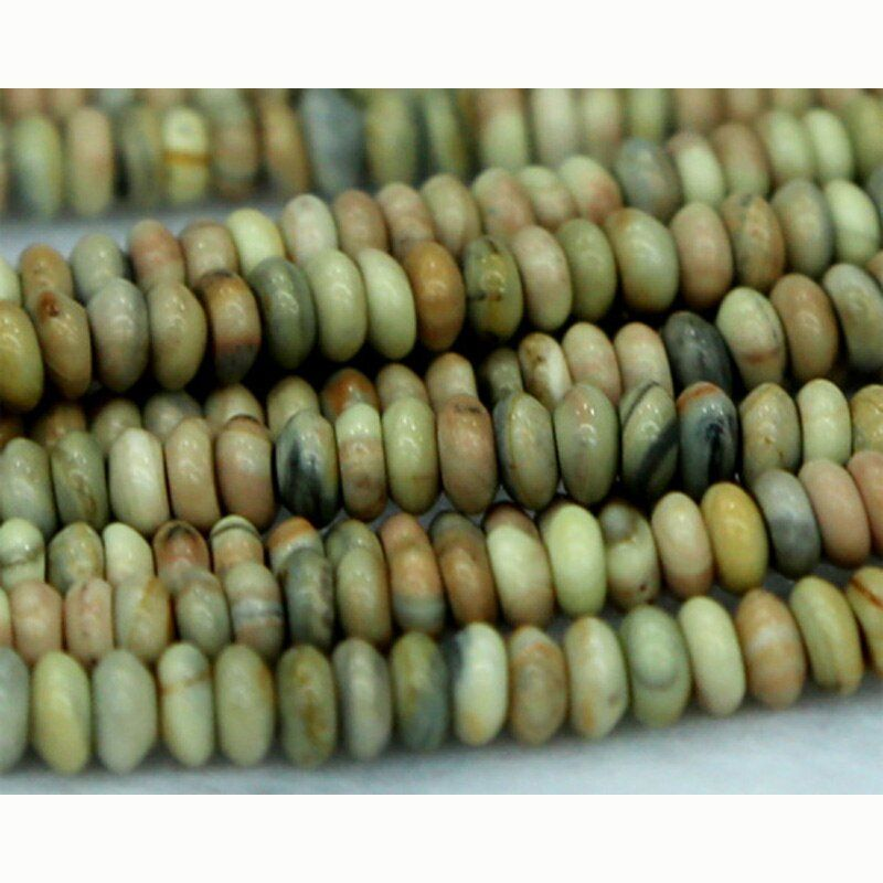 Wholesale Natural Yellow Tallow Jasper Rondelle Loose Stone Small Beads Fit Jewelry DIY Necklaces or Bracelets 15