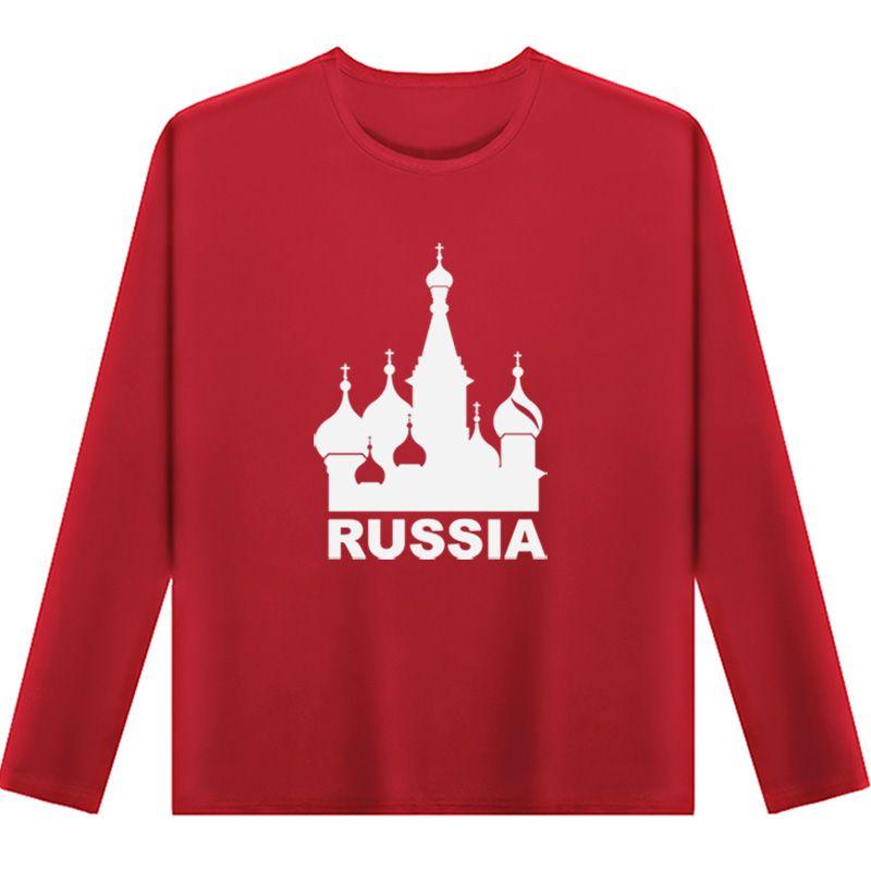 Plus größe große 7XL rundhals CCCP Sowjetunion Moskau RUSSLAND herren kleidung gedruckt langärmelige entspannt fit T-shirts