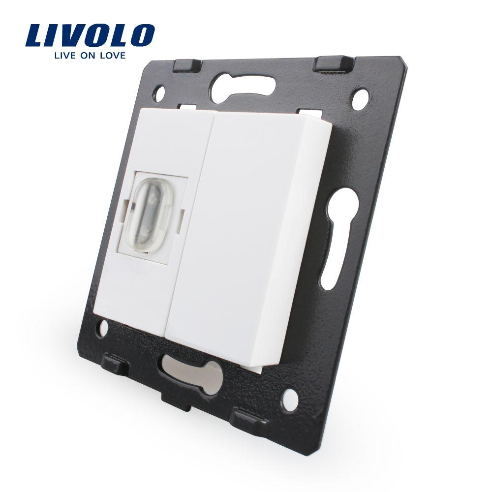 Manufacturer, Livolo White Plastic Materials, 45mm*22mm, EU Standard, Function Key For HDMI Socket,VL-C7-1HD-11 (4 Colors)