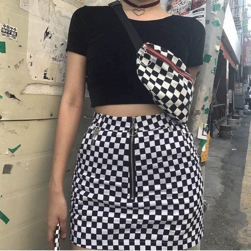 Waist Bag Women Men leg bag Lattice Checkerboard fanny pack Female Shoulder belt Cellphone Chest Bags Big Promotion Hot sale 81