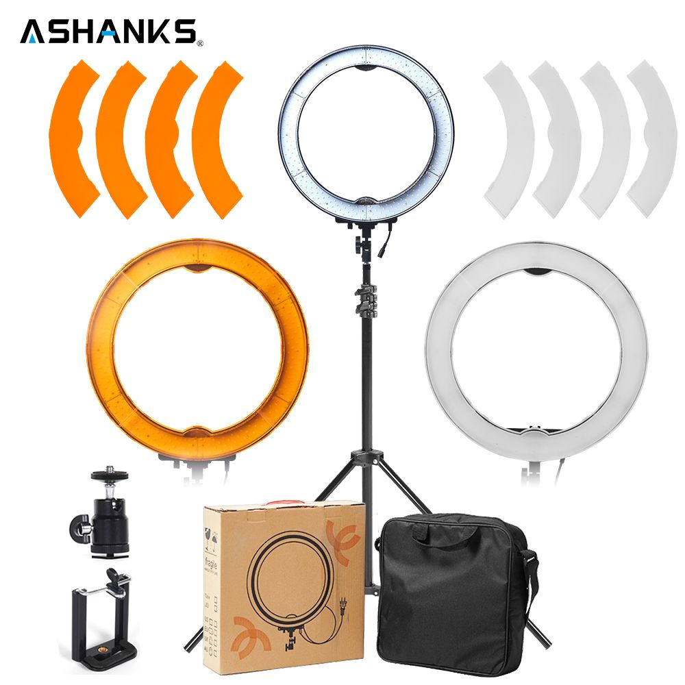 LED Ring Light with Stand ASHANKS Selfie Lights 40W Photography Dimmable Ring Lamp Bulbs for Camera Photo/Studio/Phone/Video
