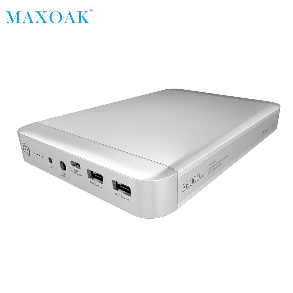 MAXOAK K3 Original power bank laptop Type-C 5V/9V/12V 3A Charger universal external battery for Apple Laptop Notebook