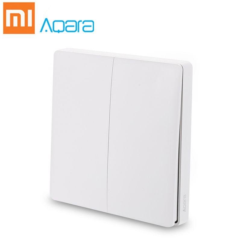 Xiaomi Mijia Aqara Wall Switch Smart Light Control Wireless Double Single Key ZigBee Version Home Security APP Remote Control