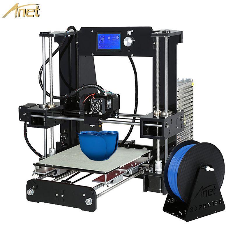 Hot Anet A6/Auto A6 impresora 3d Printer Auto Level A8/Normal A8 High-precision Reprap i3 3D printer Kit DIY With PLA Filament