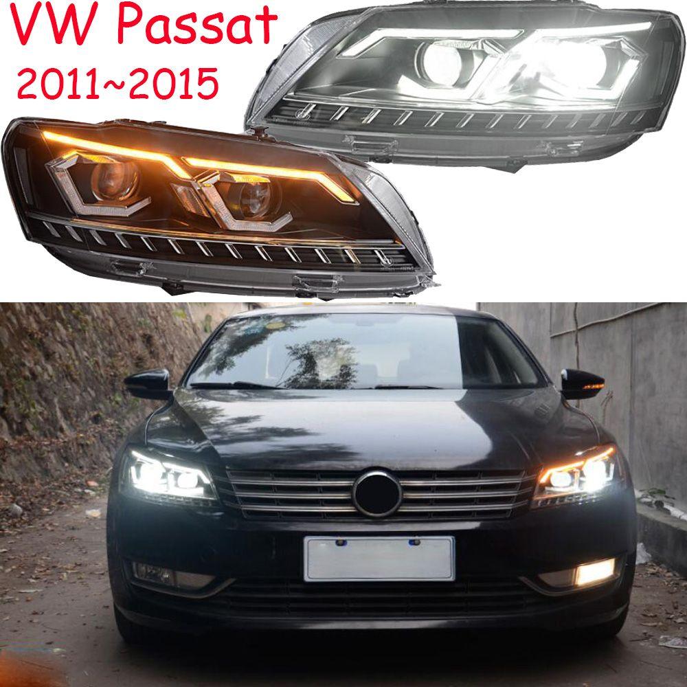 2 stücke dynamische Video Passat B7 Scheinwerfer 2011 ~ 2015 Magotan Scheinwerfer DRL Hid Kopf Lampe Engel Auge Bi Xenon strahl Zubehör