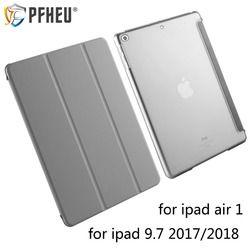 Hohe qualität schutzhülle für 2017/2018 neue iPad 9.7A1822/A1893 und Air 1 mit smart wake/ schlaf funktion halterung smart fall