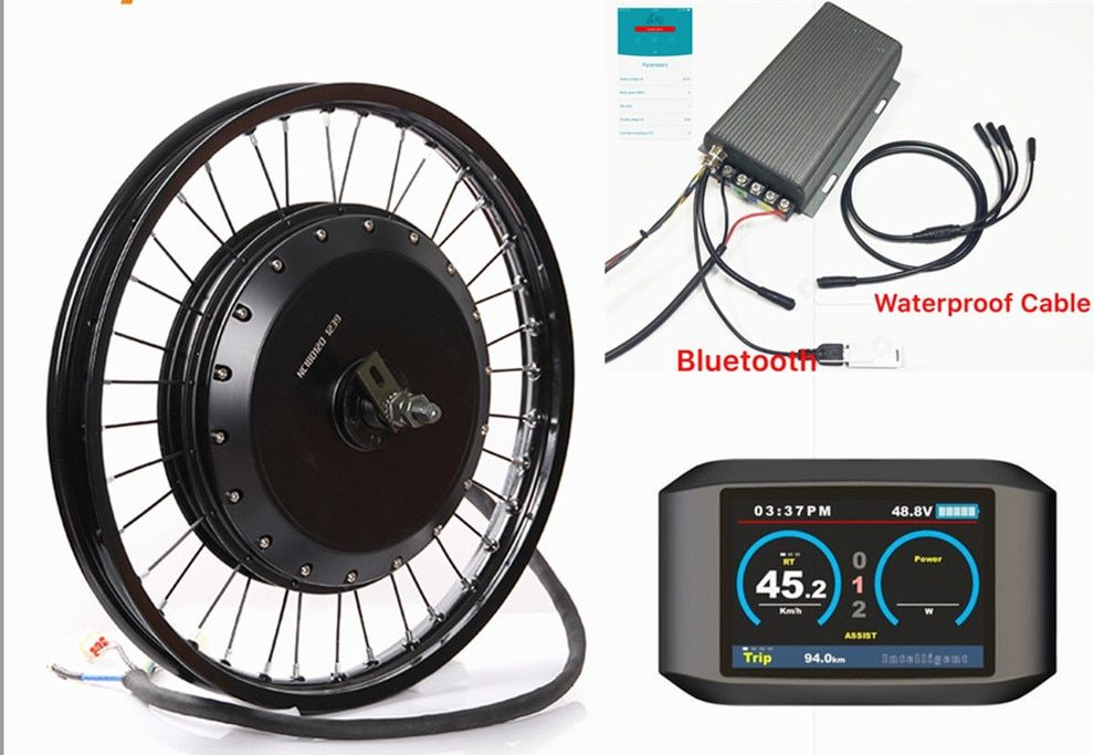 Bluetooth ! 72v 8000w QS 273 electric bike hub motor conversion kit with TFT colorful display