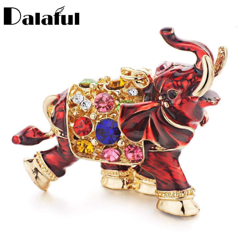 Dalaful 3D Auspicious Elephant Schlüsselanhänger Ketten Ganze Emaille Bunte Kristall Tasche Anhänger Schlüsselanhänger Schlüsselanhänger Für Frauen K280