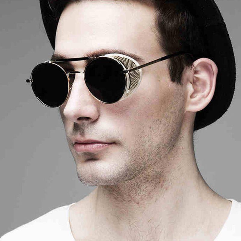 Pop Âge New Mode Gothique Punk de Vapeur Lunettes Marque Designer Miroir Conduite Femmes Hommes Steampunk lunettes de Soleil Oculos de sol
