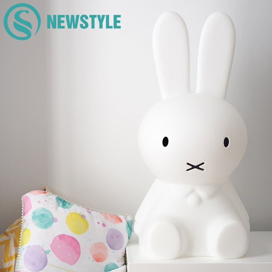50 см детская спальня кролик ночник затемнения детей теплый белый светодиодный ночник мультфильм декоративные лампы для детские, для малыше...