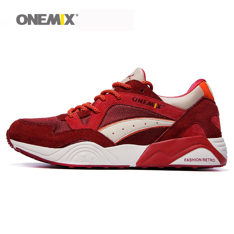 Onemix men's retro <font><b>running</b></font> shoes outdoor sports sneakers light breathable shoes men sneaker for outdoor jogging walking trekking