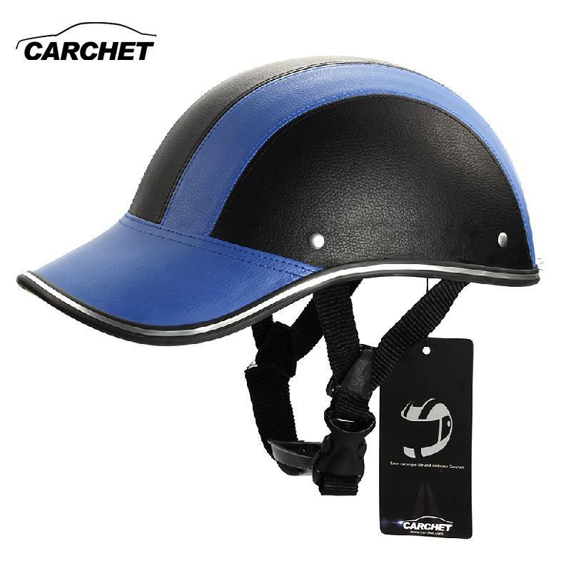CARCHET casque de moto réglable Motocross demi visage ouvert casques souple casquette de Baseball Style casque de vélo 7 couleur 55-60 CM chaud