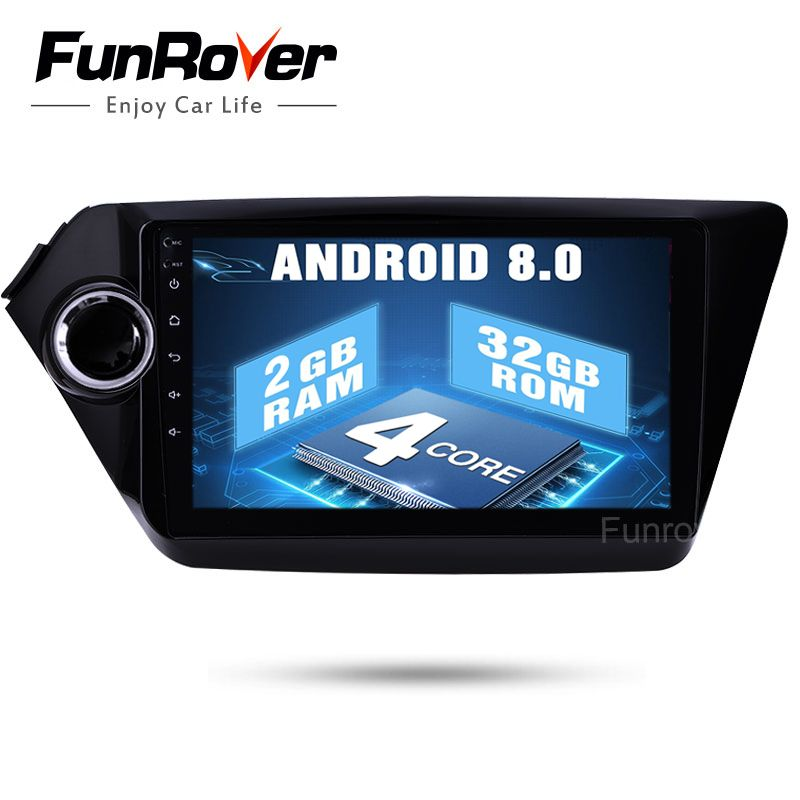 Android 8.0 Car Radio <font><b>2Din</b></font> Car dvd gps 9 For Kia K2 Rio 2012 2013 2015 2016 Radio tape recorder Navigation multimedia stereo BT