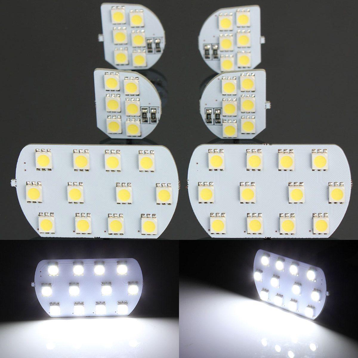 6 шт./компл. супер яркий светодиодный интерьер купола и Географические карты Чтение свет лампы для Peugeot 308 3008 408 508 Citroen C5